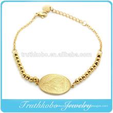 2016 Wholesale Gold With Beads Virgin Mary Charm Lengthen Bracelet Religious Gold Bead Catholic Bracelet