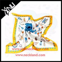 Les femmes de saison de ressort imprimant l'écharpe en soie de conception faite sur commande d'impression de Digital