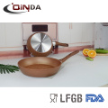 Copper forged aluminum fry pan with 3D ceramic coating reforce nonstick