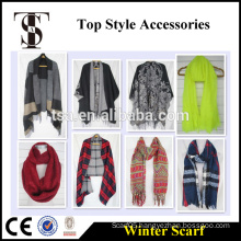 Hangzhou TSA Appareal CO.,LTD oversized winter scarf acrylic snood polyester cape and poncho                                                                         Quality Choice