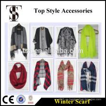 Hangzhou TSA Appareal CO., LTD bufanda de gran tamaño de invierno acrílico snood poliéster cabo y poncho Calidad de la elección