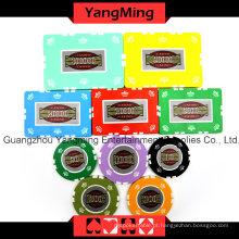 Microplaquetas do póquer da argila da coroa ajustadas (760PCS) Ym-Sghg001