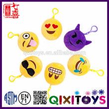 Decorativa linda emoji chaveiro de pelúcia 10 cm emoji chaveiros venda quente barato emoji chaveiro atacado