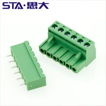 Euro type terminal block 5.0mm plug in 2 3 4 6 8 10 12poles 300v 16a connector
