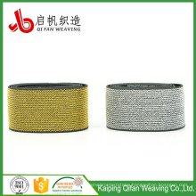 Okeo-Tex Factory Customize High Quality matellic yarn elastic band
