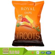 OEM Laminated Aluminum Foil Snack Packaging Bag For Potato Chips / Custom Printed Snack Crisps Plastic Bag