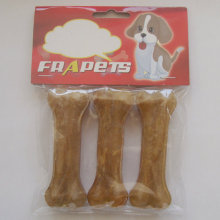"Dog Food 4.5"" Natural Rawhide Pressed Bone Dog Chew"