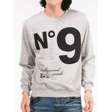 Diseño de impresión personalizada Cotton Fashion Longsleeve camiseta de los hombres