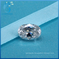 4X6mm 0.5 Carat Oval Cut High Quality Synthetic White Moissanite Diamond for Rings