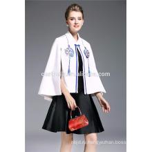 Cestbella 2017 Весна Женская Одежда Кимоно Кардиган Шерстяной Печатные Дамы Пальто Короткая Куртка