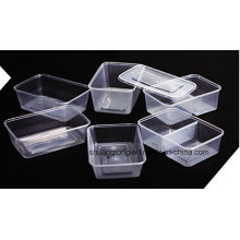 Plástico rectangular para llevar Contenedor de alimentos para microondas 1000ml