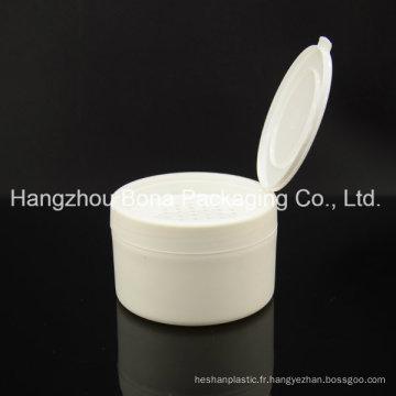 Poudre lâche ronde plate en plastique de récipient de 4oz pp
