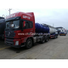 3 axle carbon steel sulfuric acid tank trailer