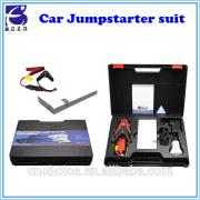 Innovative emergancy car repair tool kit ultra-thin battery vehicle jump starter suit with 8000mAh power bank