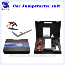 Innovative emergancy car repair tool kit ultra-thin battery vehicle jump starter suit with 8000mAh power bank