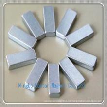 N38 Imán de Zinc Plating barra de neodimio