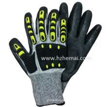 TPR Impact Glove Anti Cut Resistant Gloves Mechanix Work Glove