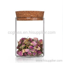 Clear Borosilicate Glass Storage Jars Used For Tea Container