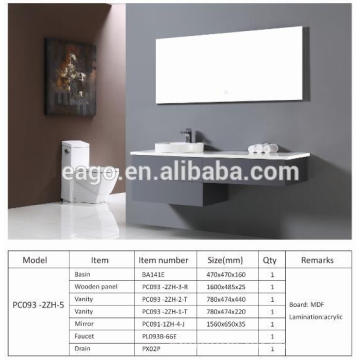 EAGO Modern Bathroom Cabinet PC093-2ZH-5