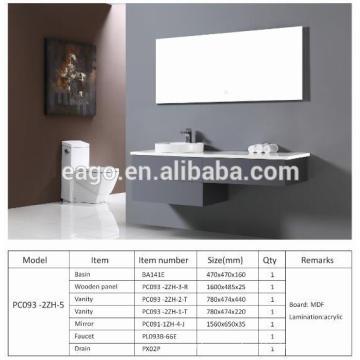 Gabinete de banheiro moderno EAGO PC093-2ZH-5