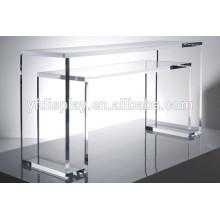 Table basse en acrylique transparent et table de salon en forme de U