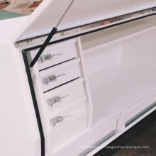 caja de herramientas de acero resistente de encargo impermeable de la cama de camión con el cajón