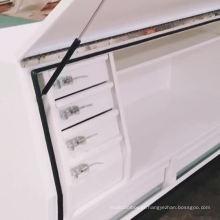 caixa de ferramentas de aço resistente feita sob encomenda impermeável da cama do caminhão com gaveta