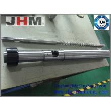 Cilindro de tornillo de inyección Bimetal único para maquinaria de plástico
