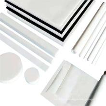 raw materials   sheet rod tube PTFE  black WHITE plastic plate