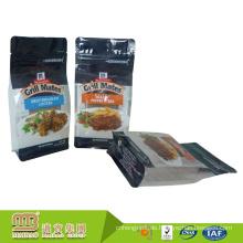 Fabrik-Preis-Nahrungsmittelgrad-flacher Boden-klare Seitenfalten-wiederverschließbare Gewohnheit druckte Rindfleisch-ruckartigen Verpackungsbeutel mit Ziplock