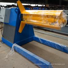 Proveedores de fabricantes de China precio máquina de desenrollador de chapa de acero hidráulica