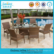 New Style Rattan Outdoor Compact European Style Dinning Table