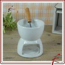 Chaozhou fogão de chocolate de porcelana branca com garfo