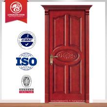 Conception de porte d'entrée en bois soupele composite de bonne qualité