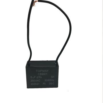 Condensador del ventilador 5UF + 5% Cbb61 250VAC con buena calidad y el mejor precio