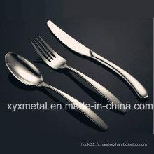 Vaisselle Ensemble de coutellerie pour dîner en acier inoxydable