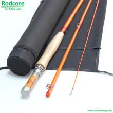 Amarelo Yr764-3 Qualidade Feito Moderado Clássico Fiberglass Fly Rod