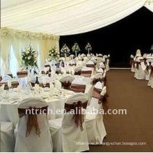 Couverture de chaise de banquet standard, CT028 polyester matière, durable et facile lavable
