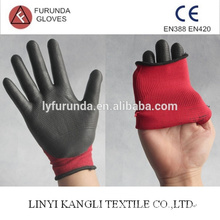 Nylon glove coated with nitrile on palm