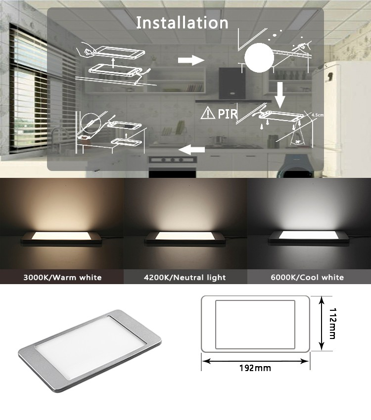 Square Tiny and Thin LED Cabinet Panel Light