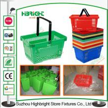 Centro comercial transportar plástico supermercado cesta de compra