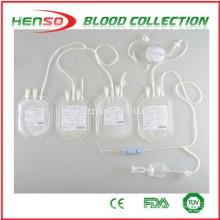 Saco de coleção quadrangular de sangue Henso