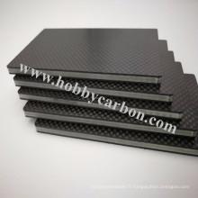 Feuille de fibre de carbone mate de 3k