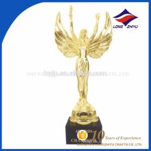 Trofeo elegante de encargo del ángel del metal del trofeo de Óscar