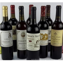 Garrafa de vinho tinto de alta qualidade garrafa de vinho de uva