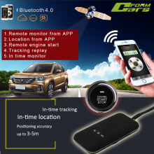 GPS&GSM tracker car alarm with one button engine start remote engien start