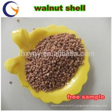 coquilles de noix broyées / abrasifs de coquille de noix