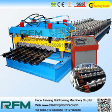FX electric metal roof glazed tile roll forming machine