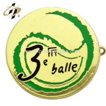 Оптом дешевые пользовательских металла круглой формы золотой булавкой значок