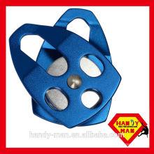 AP-081 EN12278 Climbing Aluminum mobile side roller bearing single wheel rope 16mm pulley